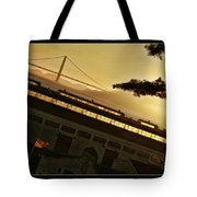 Golden Gate And Flag  Tote Bag