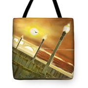 Golden Gate And Sea Gul Tote Bag