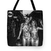 Golden Girls Of Bourbon Street - Black And White Tote Bag