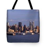 Golden Glow Of New York City Tote Bag