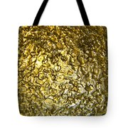 Golden Ice Crystals Tote Bag