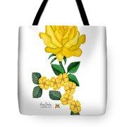 Golden January Rose Tote Bag