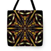 Golden Kaleidoscope Tote Bag