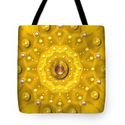 Golden Mandala With Pearls Tote Bag