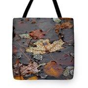 Golden Maple Dew Drops Tote Bag