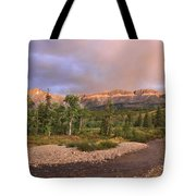 Golden Montana Mountain Tote Bag