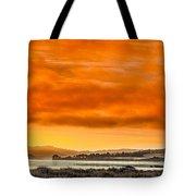 Golden Morning Over Humboldt Bay Tote Bag