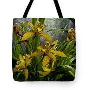 Golden Orchid Tote Bag