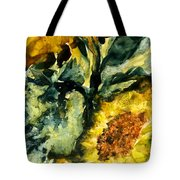Golden Rayed Flower Tote Bag