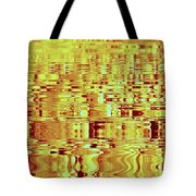 Golden Ripples Abstract Tote Bag