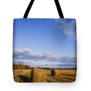 Golden Rolls Of Hay In A Field Tote Bag