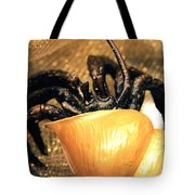 Golden Seashell Crab Still Life Tote Bag
