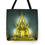 Golden Sitting Buddha Tote Bag