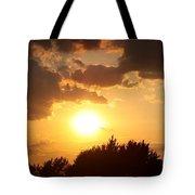 Golden Sky Over Genesee Tote Bag