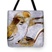 Golden Studded Stilettos Tote Bag