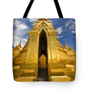Golden Stupa Front View Bangkok Tote Bag