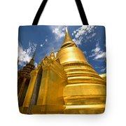 Golden Stupa In Grand Palace Bangkok Tote Bag