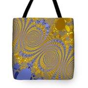 Golden Vortices Tote Bag