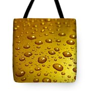 Golden Water Drops. Business Card. Invitation Etc. Tote Bag
