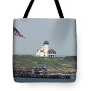 Golf At The Hudson Tote Bag