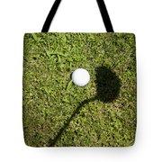 Golf Ball And Shadow Tote Bag