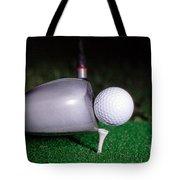 Golf Club Hitting Ball Tote Bag