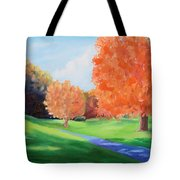 Golf Course In The Fall 1 Tote Bag