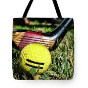 Golf - Tee Time With A 3 Iron Tote Bag