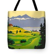 Golfing In Lausanne Tote Bag