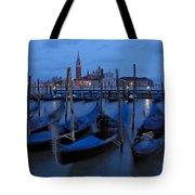 Gondolas At Dusk In Venice Tote Bag
