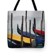 Gondolas At Harbor On A Misty Day Tote Bag