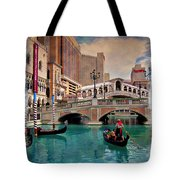 Gondolas On The Canal - Impressions Tote Bag