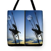 Goose At Dusk - Cross Your Eyes And Focus On The Middle Image Tote Bag