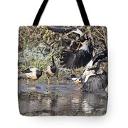 Goose Fight Tote Bag