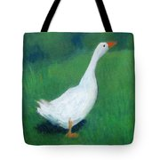 Goose On Green Tote Bag
