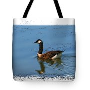 Goose On The Pond Tote Bag