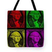 Gorge Washington In Colors Tote Bag