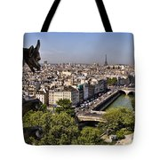 Gorgyle View Of Paris Tote Bag