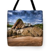 Goscar Rock Tenby 4 Painted Tote Bag