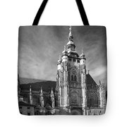 Gothic Saint Vitus Cathedral In Prague Tote Bag