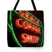 Grace Coffee Shop Neon Tote Bag