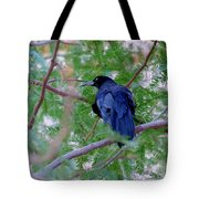 Grackle On A Branch Tote Bag
