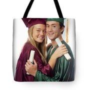 Graduation Couple Tote Bag