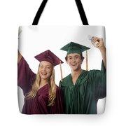 Graduation Couple V Tote Bag