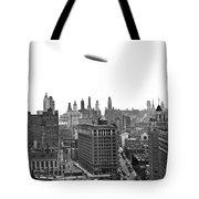 Graf Zeppelin Over Chicago Tote Bag