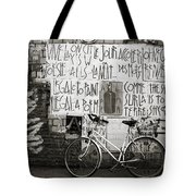 Graffiti And Bicycle Tote Bag