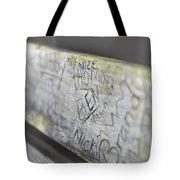 Graffiti Bench Tote Bag
