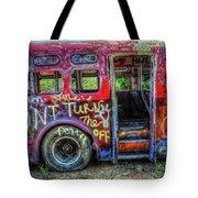 Graffiti Bus Tote Bag