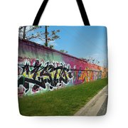 Graffiti Lane Tote Bag