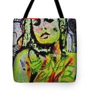 Graffiti Nude Tote Bag